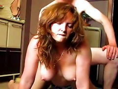 Amateur Wife Gets Fucked On The Kitchen's