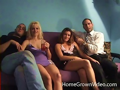 Duo Of Filthy Chicks Arrange For An Outstanding Foursome Sex Action