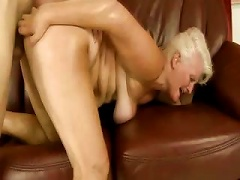 Blonde GILF Gets Hard Cock In Her