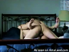 Couple Having A Hardcore Fucking Session In Bed