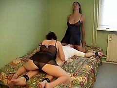 Saggy Babe And Girlfriend Ffm In All Holes